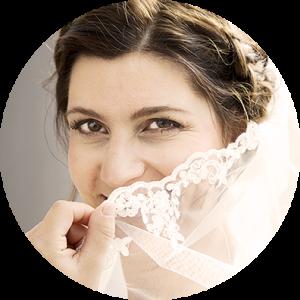 Bruiloft sluier foto van bruid