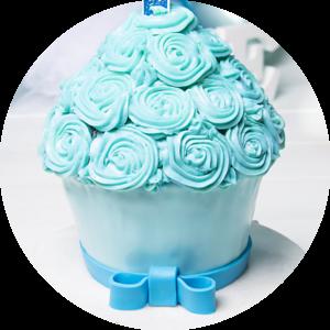 Blauwe Cake Smash taart met rolfondant beste idee eerste verjaardag fotograaf van Nederland