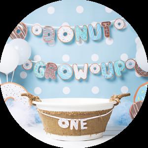 Donut grow up beste cake smash alternatief fotoshoot in Noord-Brabant bij fotograaf Pauline