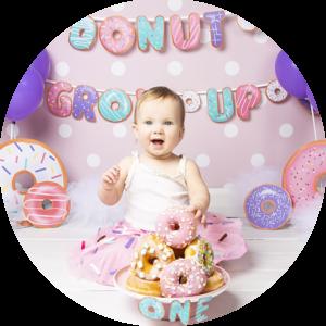 Donut grow up! Nieuw Cake-Smash thema! fotoshoot in Nederland