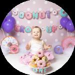 Cake Smash fotoshoot thema donut grow up