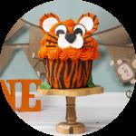 Cake Smash taart fotoshoot tiger oranje r