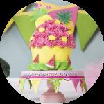 Tropical Jungle cake smash fotograaf in nederland vrolijk