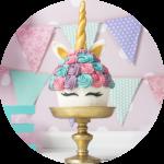 Unicorn Cake Smash giant cupcake taart fotoshoot Noord-Brabant thema beste idee baby 1 jaar prijs